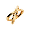 9CT ENTWINE CROSS OVER RING