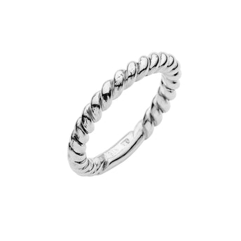 STG SILVER ENTWINE ROPE RING