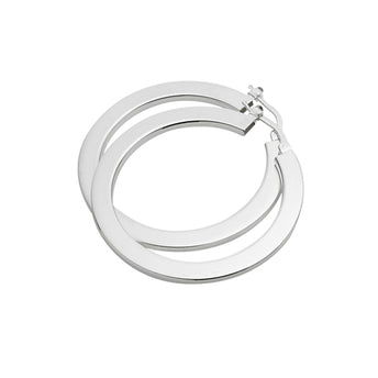 STG SILVER CREOLE HOOP EARRINGS