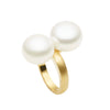 9CT 2 PEARL RING