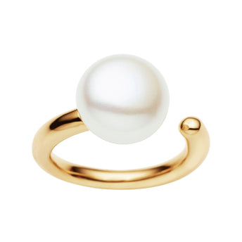 9CT PEARL CARLY RING