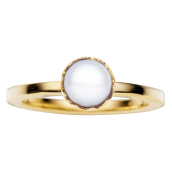 9CT GOLD PEARL AURORA RING