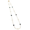 18CT TAHITIAN PEARL & MOTHER OF PEARL SORRENTO NECKLACE