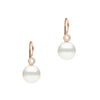 18CT ROSE GOLD SOUTH SEA PEARL & DIAMOND ORBIT EARRINGS