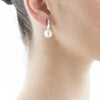 18CT WHITE GOLD SOUTH SEA PEARL & DIAMOND JUNO EARRINGS