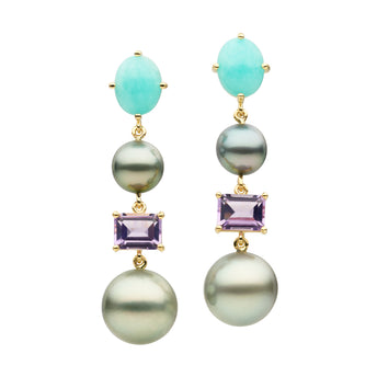 18CT TAHITIAN PEARL ELBA EARRINGS