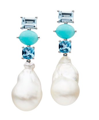 18CT SOUTH SEA PEARL TIARNIE EARRINGS