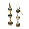 LTD EDITION 18CT GRADUATED TAHITIAN PEARL SAGE EARRINGS