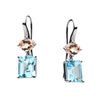 LTD EDITION 18CT SOUTH SEA PEARL, DIAMOND, MORGANITE & TOPAZ DETACHABLE ISADORA EARRINGS