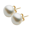 9CT 10-10.5MM WHITE FRESHWATER PEARL STUD EARRINGS