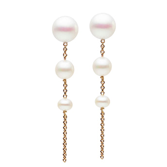 9CT 3 PEARL DROP EARRINGS