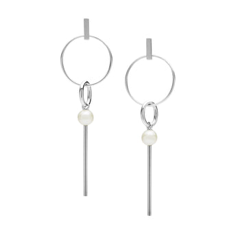 STG SILVER PEARL AILA EARRINGS