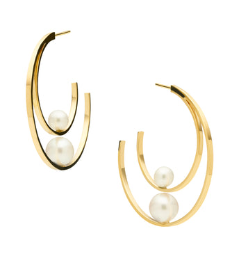 9CT PEARL CORFU EARRINGS