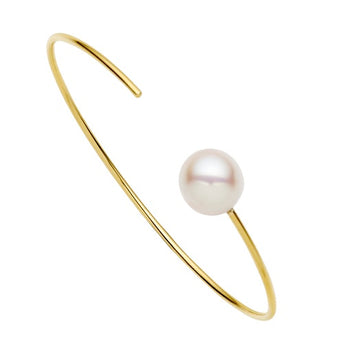 9CT PEARL CARLY BANGLE