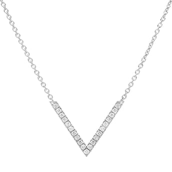 18CT WHITE GOLD DIAMOND VIVECKE PENDANT