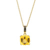 18CT HONEY QUARTZ & BLACK DIAMOND KAARINA PENDANT