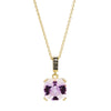 18CT ROSE DE FRANCE AMETHYST & BLACK DIAMOND KAARINA PENDANT