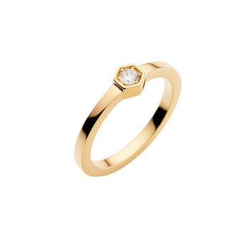 18YG STELLA DIAMOND HEXAGONAL RING