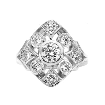 18CT DIAMOND SWANSON RING