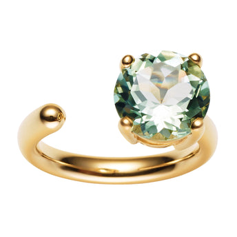 9CT GREEN AMETHYST CARLY RING