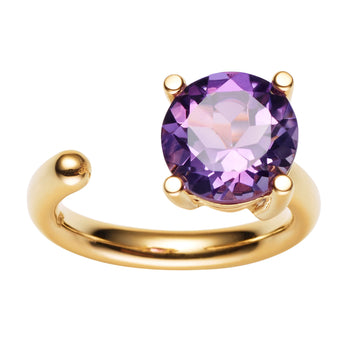 9CT AMETHYST CARLY RING