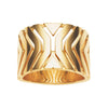 9CT GOLD MATRIX RING