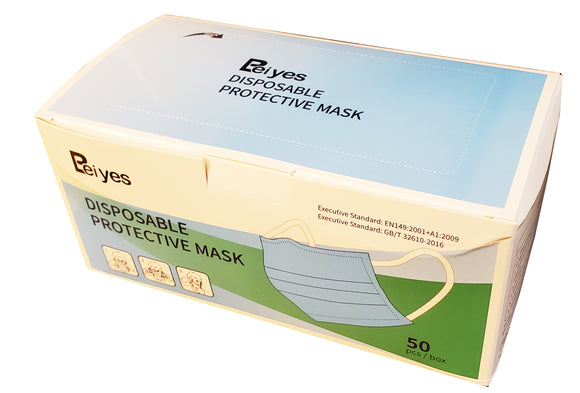 Willing Beiyes 3-ply Disposable Face Masks