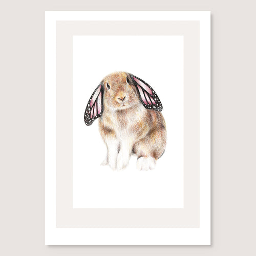 Butterfly Bunny Print