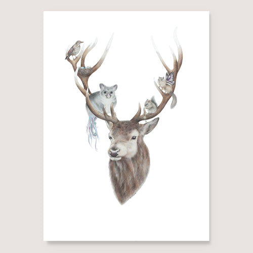 Life in Antlers Print