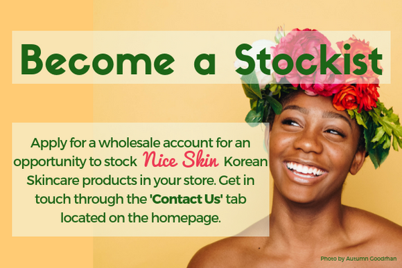become a stockist apply for a wholesale account for an opportunity to stock nice skin kroean skincare products in your store get in touch through the contact us tab located on the homepage wholesaler wholesale retail retailer buy face sheet mask australia