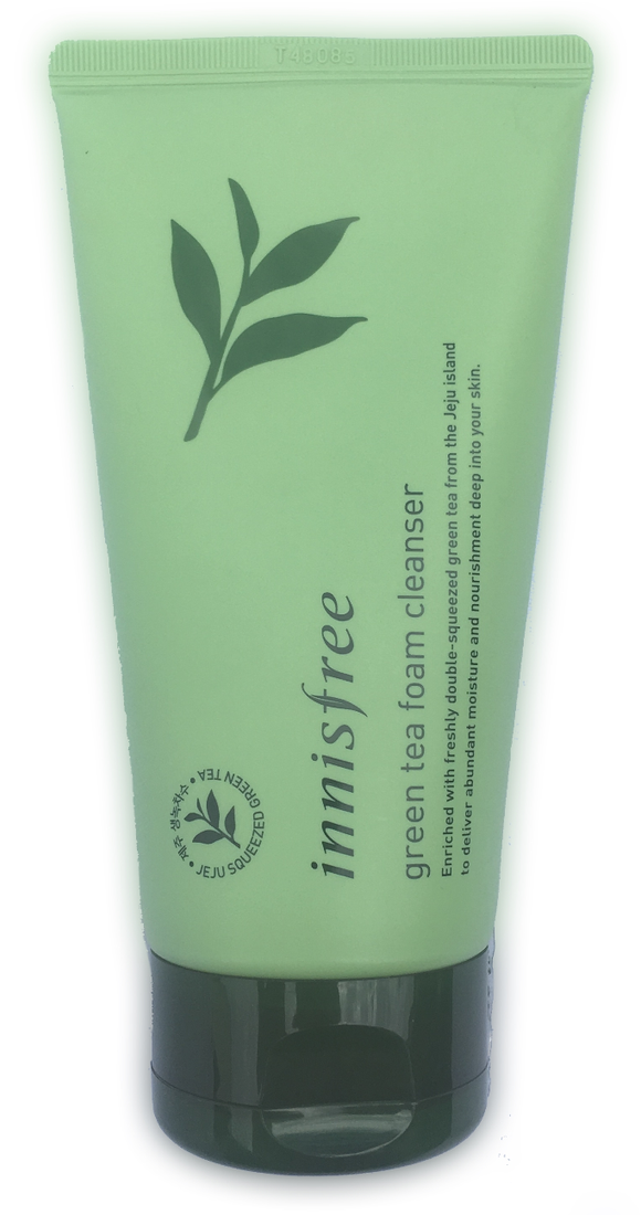 Innisfree Green Tea Cleaning Foam - 150ml Made from Jeju green tea extract that hydrates and refreshes your skin with its cleansing foam.  Gently removes dirt and make-up, leaving skin soft, supple and freshly clean.