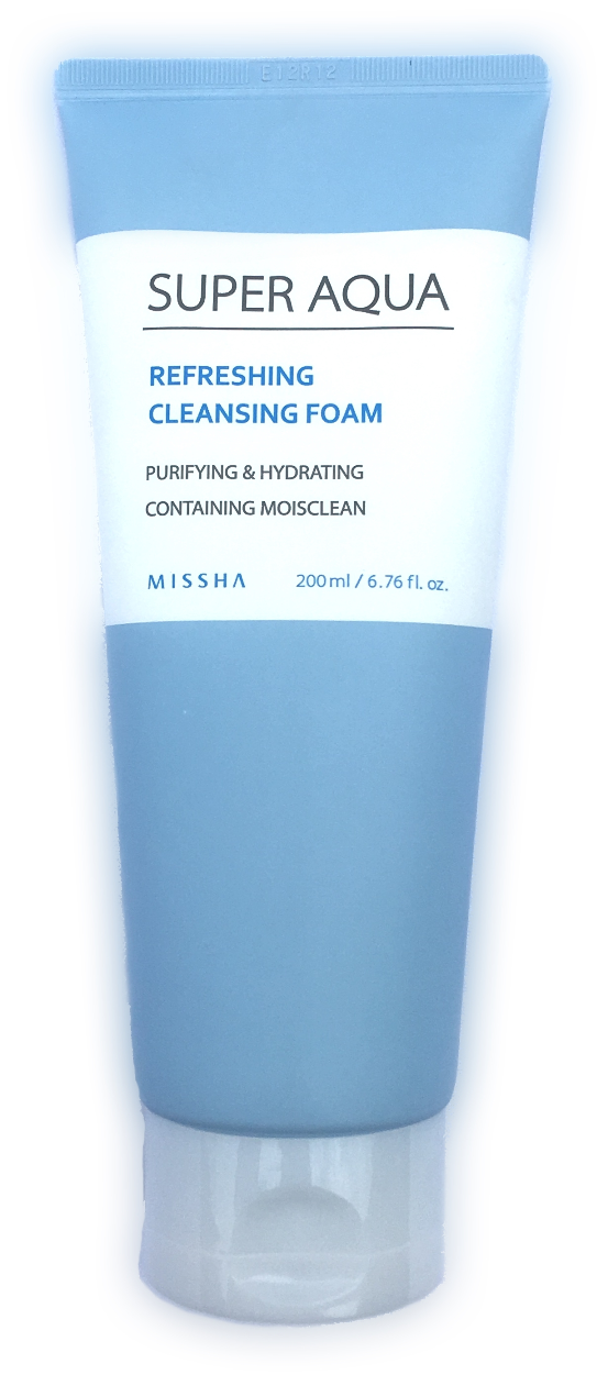 Missha Super Aqua Refreshing Cleansing Foam - 200ml A cleansing foam that has minute and rich bubble that give a massaged effect and completely removes impurities and makeup from your face. Contains Moisclean, Sweet Flag and Willow Bark extract with help from three revitalized waters from nature to give your skin that radiant and healthy glow.