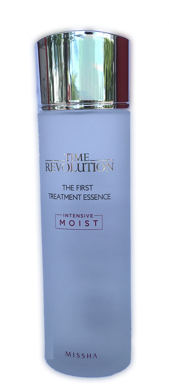 Missha Time Revolution First Treatment Essence Intensive Moisture - 150ml Recover your skin balance and increase your skin's moisture by using this concentrated essence as your first step in your skin care routine.  Made from fermented Gemmule yeast extract and purple barley, let the essence go skin deep to help with moisturizing, firming and density improvement.