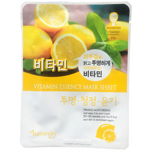 Natureby Vitamin Essence sheet mask helps to shield off UVA/UVB rays that can accelerate the signs of aging breaking down collagen levels and encourage wrinkles and sagging. Vitamins also gently brightening and even out skin tone through its anti-aging abilities.