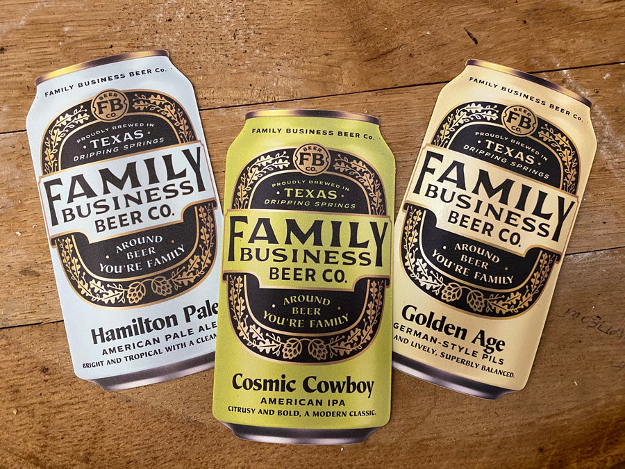 Flagship Beer Can Sticker Set