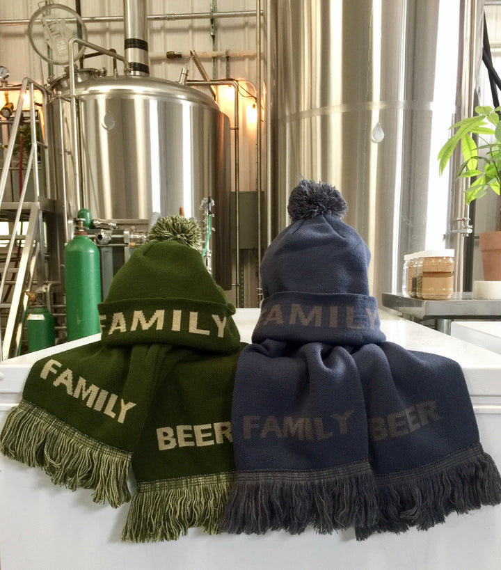 Family Beer Beanie and Scarf Set