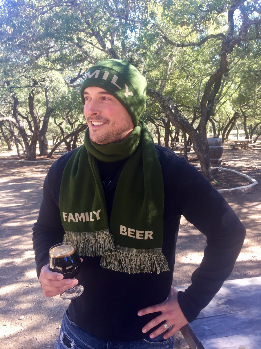 Family Beer Scarf Green