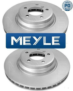 BMW X3 E83 Front Brake Discs Set Meyle Platinum Coated OE 34113400151