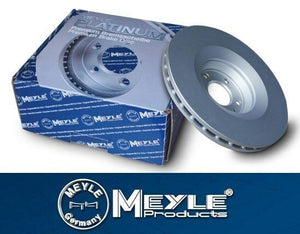 BMW E81 E82 E88 118i, 118d Front Brake Disc Set Meyle Platinum 34116854997