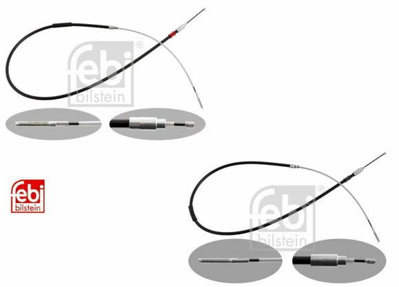 Handbrake Cables Set of 2 BMW E46 3 Series FEBI, BMW 3441165020/34411165021