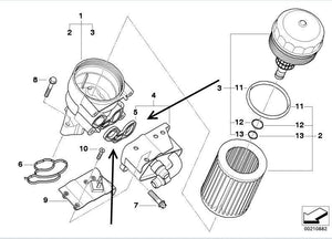 Oil Filter Housing Gasket BMW E46 316i, 318i, N42 & N46 engines 11427508970