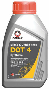 Comma Dot 4 Synthetic Brake and Clutch Fluid 500Ml 0.5L - BF4500M