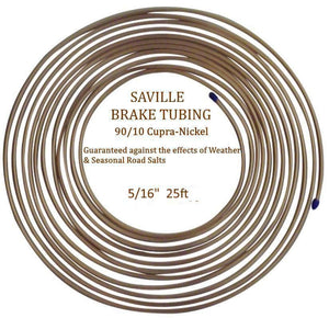 "Saville 5/16"" x 25ft (7.62 mtrs) Cupro Nickel Brake Pipe 90% Copper 10% Nickel"