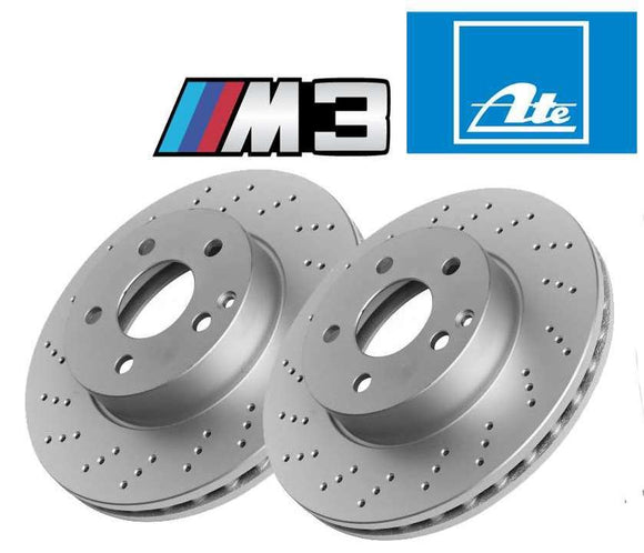 BMW M3 E90 E92 E93,  E82 M Front Brake Disc Set ATE  OE  34112283801/802