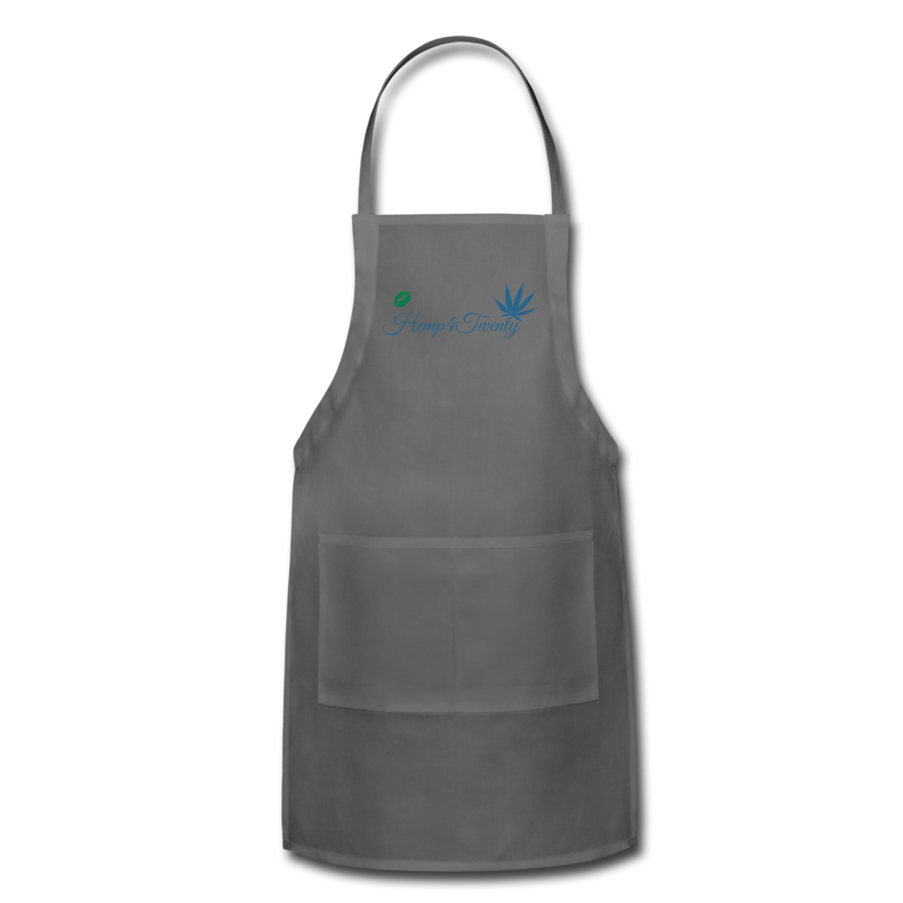 Red - Adjustable Apron - charcoal