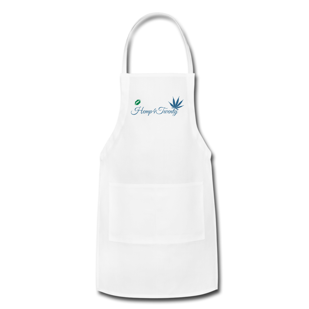 Red - Adjustable Apron - white