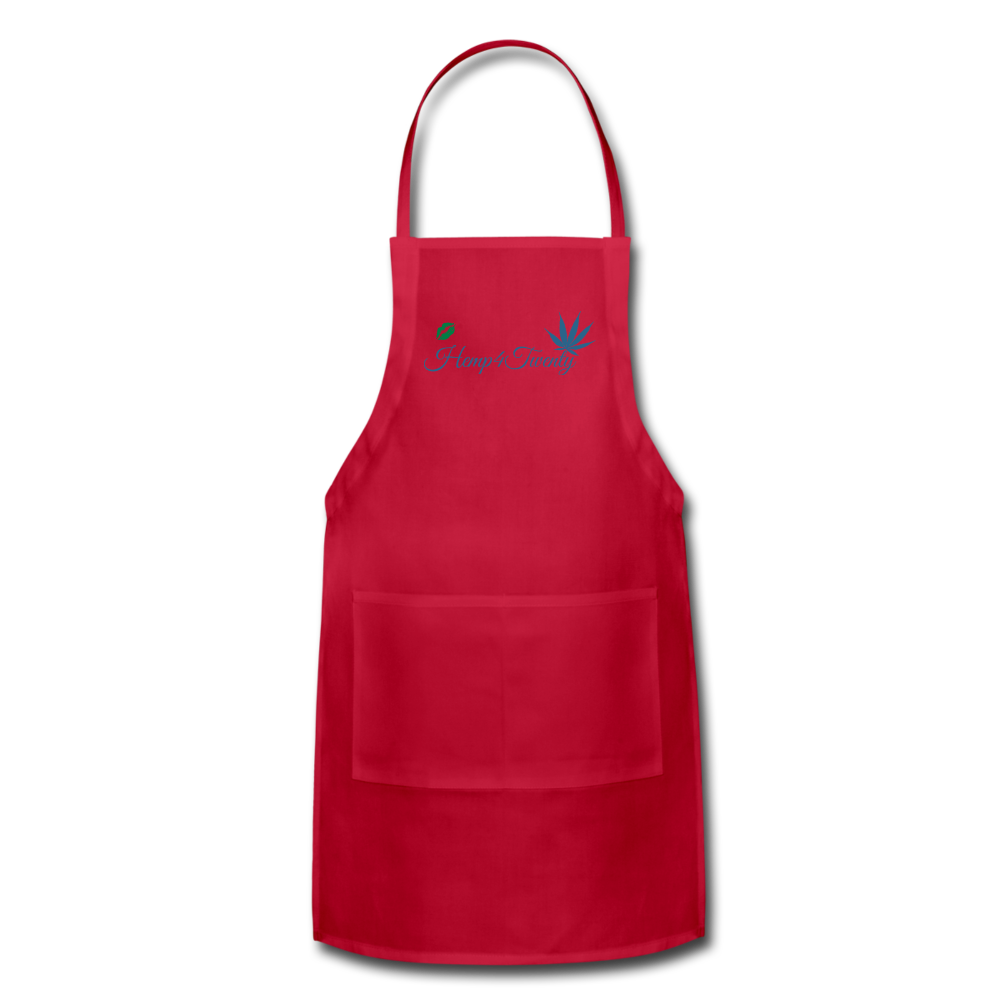 Red - Adjustable Apron - red