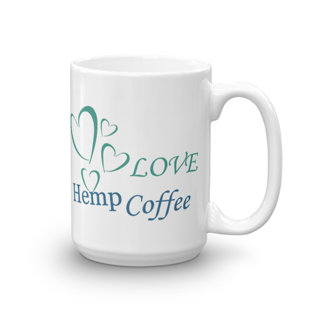 Love Hemp Coffee Mug, Right Hand View!
