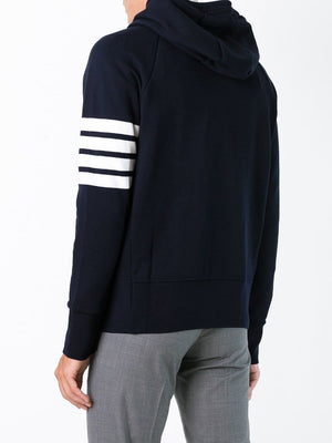 THOM BROWNE engineered 4-Bar Zip-Up Jersey Hoodie