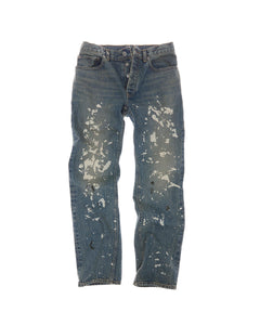 HELMUT LANG MENS STRAIGHT LEG JEAN WITH PAINT SPLATTER DETAILING